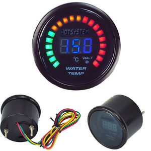 Car Digital Blue Led Black Water Temp Temperature Racing Meter Gauge Universal