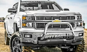 Duck Unlimited Stainless Bull Bar Brush Bumper Guard For Gm Trucks And Suvs