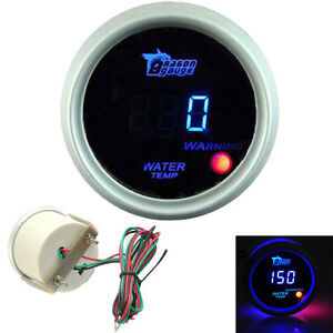 2 52mm Blue Digital Led White Electronic Water Temp Temperature Gauge Universal