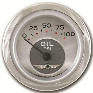 Classic Instruments All American Series Oil Pressure Guage 2 1 8 Hot Rod Street