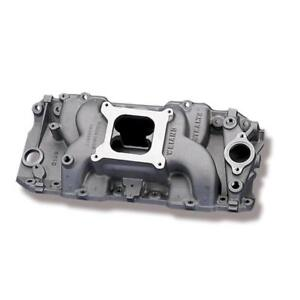 Weiand Intake Manifold 8019 Stealth Dual Plane Satin Aluminum For Chevy Bbc