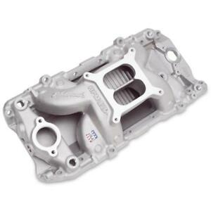 Edelbrock Intake Manifold 7561 Rpm Air gap Oval Port Air gap Aluminum For Bbc