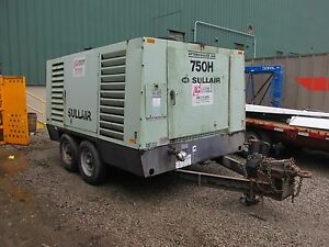 Sullair 750 Cfm After Cooled Screw Air Compressor 6292 Hours Cat Diesel 2225wvs