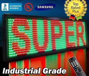 Led Sign 52 X 19 Tricolor P26 Programmable Outdoor Message Open