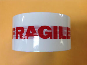 Fragile Handle With Care Lettering Printed Secure Box Carton Sealing 2 Tape