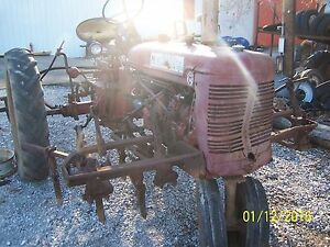 International farmall Super C Tractor And Cultivator