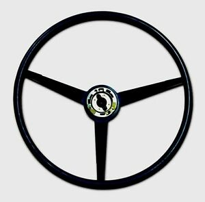 New 1965 1966 Ford Mustang Black Steering Wheel Reproduction Of Original Classic