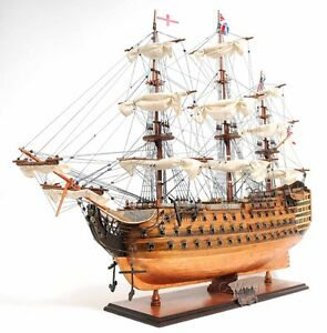 Hms Victory Admiral Nelson Tall Ship Copper Bottom 38 Wood Model Boat Assembled