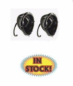 Vintique 78 13026 pr 1937 Ford Headlight Buckets With Mounting Hardware