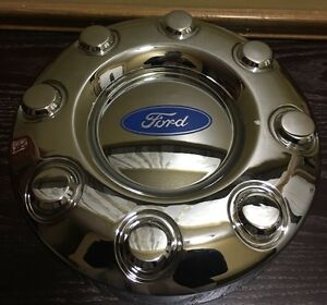 New 2005 2015 Ford F 350 F350 Dually 2wd Front Wheel Chrome Center Hub Cap Am