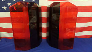 New Pair Code 3 Mx7000 And Excalibur Lightbar Domes Red W blackouts