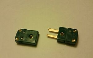 Omega Thermocouple Connector Flat Pin Extt rs 24 Green