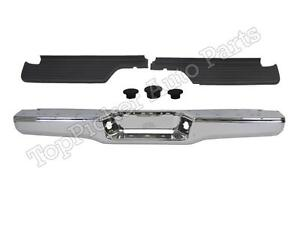 For 93 98 T100 Pickup Rear Step Bumper Chrome Face Bar Top Pad Hitch Hole Plug