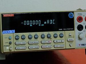 Keithley Model 2000 Multimeter Used7514