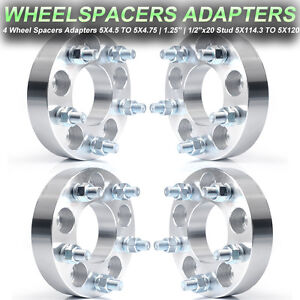 4 1 25 5x4 5 To 5x4 75 Wheel Adapters 1 2 x20 Studs Thick 5x114 3 To 5x120