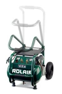 Rol air Vt25big 2 5 Hp 115v 6 5 Cfm 90psi 5 3 Gallon Cart Compressor W foldin