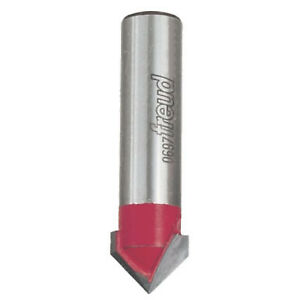 Freud Tools 20 108 3 4 X 2 1 4 V Grooving Router Bit 1 2 Carbide Height