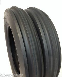 Two New 4 00 12 3 rib Cub Cadet Easy Steer Tractor Tires W tubes