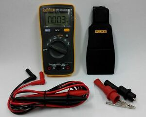 Fluke107 Digital Multimeter F107 Meter english Logo W Gift Alligator Clips