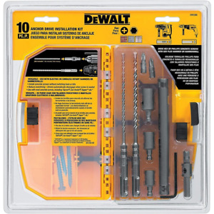 Dewalt Dw5366 10 Piece Anchor Drive Installation Kit