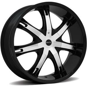Onyx 907 28 X 9 5 Black Rims Wheels Chevrolet Impala Or Caprice Rwd 5h 15