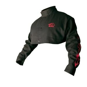 Revco Bx21cs xl Bsx Flame resistant Welding Cape Sleeve Black With Red Flames