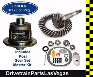 Ford 8 8 10 Bolt Trac Lock Posi Package Gear Set Master Kit 31 Spline 4 56 Ratio