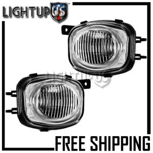 2000 2002 Mitsubishi Eclipse Left Right Pair Clear Lens Driving Fog Lights