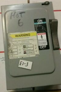 Used Siemens I t e Enclosed Switch Featuring Vacubreak 30 Amp F351 Warranty