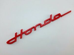 Honda Red 3d Logo Decal Badge Letters Modren Classic Car For S600 S800 Chaly Dax