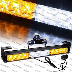 14 Inch Led White Amber Yellow Bar Emergency Truck Strobe Flash Light Warn Truck