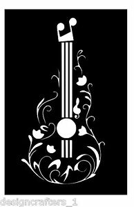 Flower Guitar Beautiful Music Vinyl Car Window Laptop Decal Sticker Size Color
