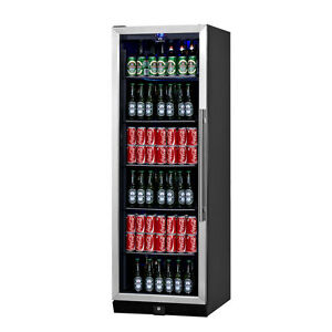 Kingsbottle Beverage Cooler Glass Door With Stainless Trim 170bss