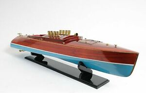 Dixie Ii American Challenger Speed Boat 36 Wood Model Ship Assembled