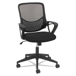 Oif Modern Mesh Task Chair Fixed Triangle Arms Black Oifmk4718