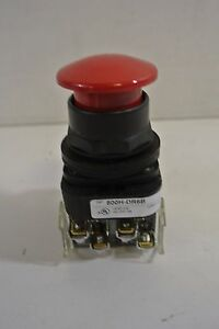 Allen Bradley 800h dr6b Momentary Push Button Red