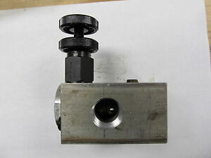 Pilot Operated Spool Type Ventable Relief Valve 1ar15 r6 30s 60 Gpm 3000 Psi