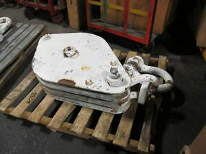 Heavy Duty Construction Block 3 Sheaves 24 Inch Diameter For 7 8 Wire Rope Used