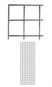 Case Of 4 New Retails Chrome Finish Wire Grid Wall Panel 2 X 6