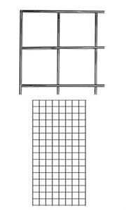 Count Of 4 New Retails Chrome Finish Wire Grid Wall Panel 2 X 4