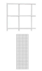 Pack Of 4 New Retails White Finish Wire Grid Wall Panel 2 X 6