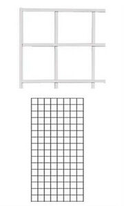Case Of 4 New Retails White Finish Wire Grid Wall Panel 2 X 4