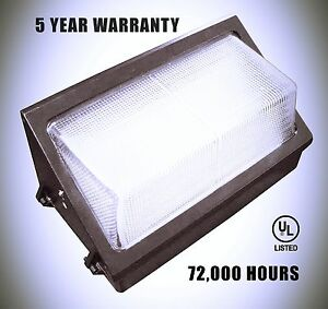 50 Watt Led Wall Pack 5000k With Led Tech 5 Year Warranty Bright Durable New