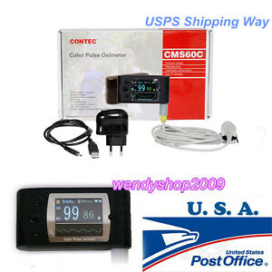 Us Seller Handheld Cms60c Tft Finger Pulse Oximeter spo2 Oximetry free Software