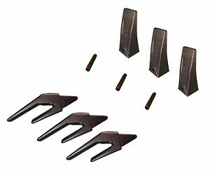 Mini Excavator Bucket Teeth Weld on Shanks And Pins Set Of 3 X156l 1 Lip