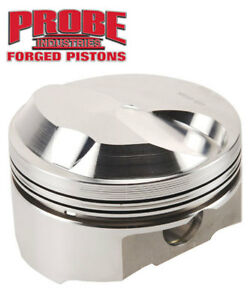 Probe Srs Forged Pistons Chevy 454 Dome 39 0cc 4 500 Bore 1 395 C H Pl14033 033