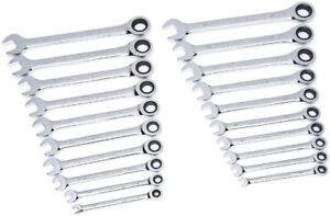 Genuine Gearwrench Ratcheting Wrench Sets 10 Sae Inch 10 Metric Mm Or Both