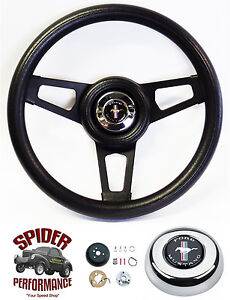 1984 1991 Mustang Steering Wheel Pony 13 3 4 Black Spoke