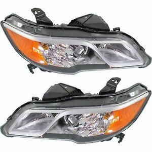 2013 2014 2015 Acura Rdx Head Lamp Light W hid Type Left And Right Pair Set