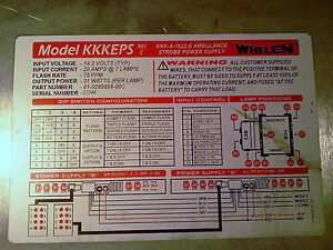 Wehelen Kkkeps a b Model Kkk 1822 e Strobe Ambulance Power Supply
